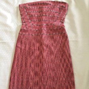 Herve Leger Strapless Bandage Dress S Pink